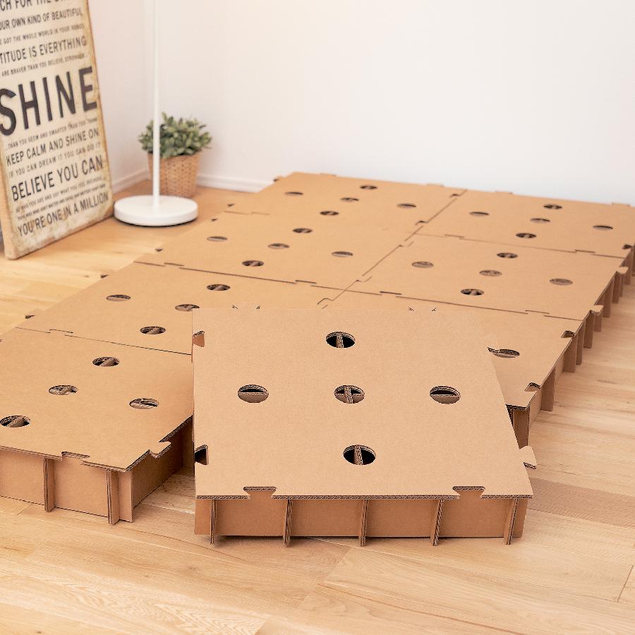 海外限定 直送商品 人にも環境にも優しい段ボール製ベッド誕生 なんだ?ベッド