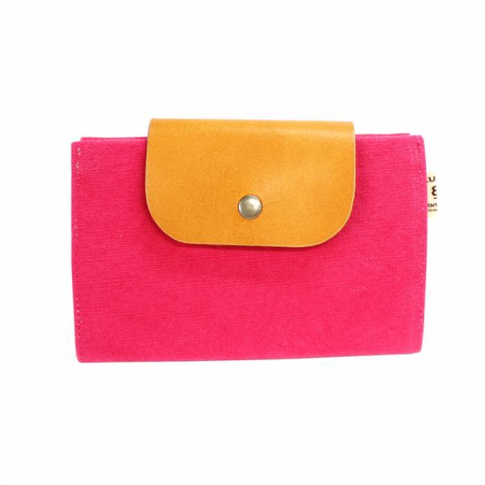 01 はちのす(カードケース) 染色 ピンク