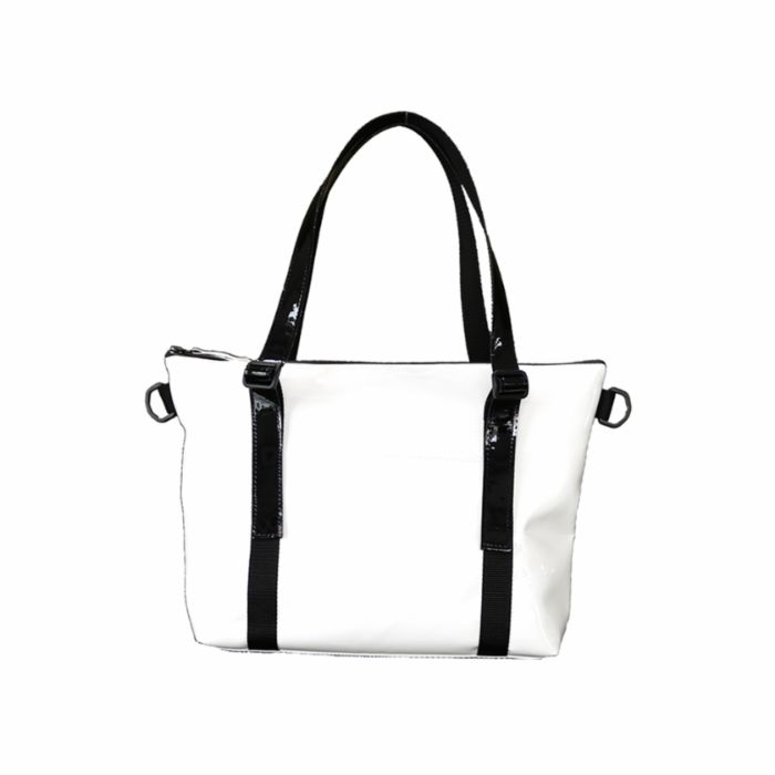 トートバッグ(S)白×黒 TOTE BAG(S)_white×black 050