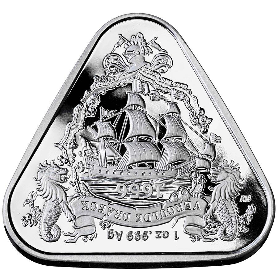 シリーズ2作目の三角形のコイン 2020年 オーストラリア難破船シリーズ Vergulde 超定番 Draeck ヴェルグルデドレーク号 1オンス 銀貨 純銀製 クリアケース入り 現物資産 2020A/W新作送料無料 プレゼント 趣味 非流通品 本物 新品 コレクション 珍品