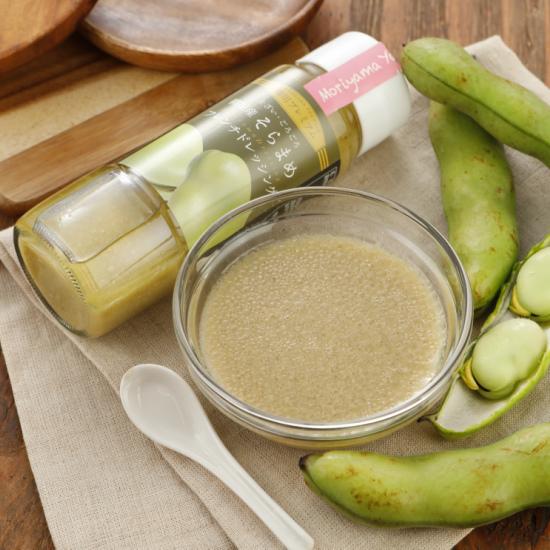 柳川産そら豆をふんだんに使用し、甘味と酸味のバランスが良い風味豊かなドレッシングです。風味を損なわないよう、りんご酢を使用し、隠し味にかつおだしを使用しております。 そらまめドレッシング(フレンチドレッシング)【産地直送 そらまめ フレンチドレッシング パスタソース 野菜ドレッシング】