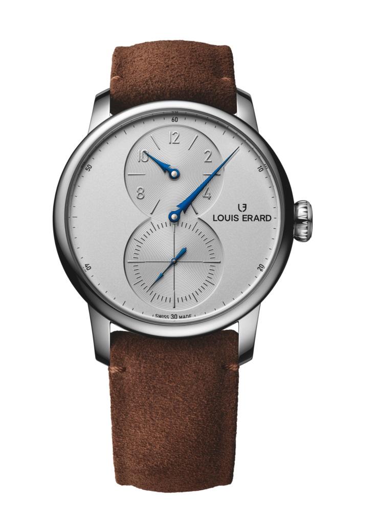 ルイエラール 正規販売店 エクセレンス トリプティック 送料無料 トリプティックシリーズ 安売り Triptych LE85237AA21BVA31 腕時計 EXCELLENCE 市場 レギュレーターLOUISERARD スイス時計