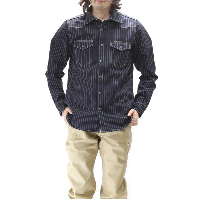 铁的心 12 盎司沃巴什县西部的条纹衫 (西方的沃巴什条纹的衫) 10P31Aug14