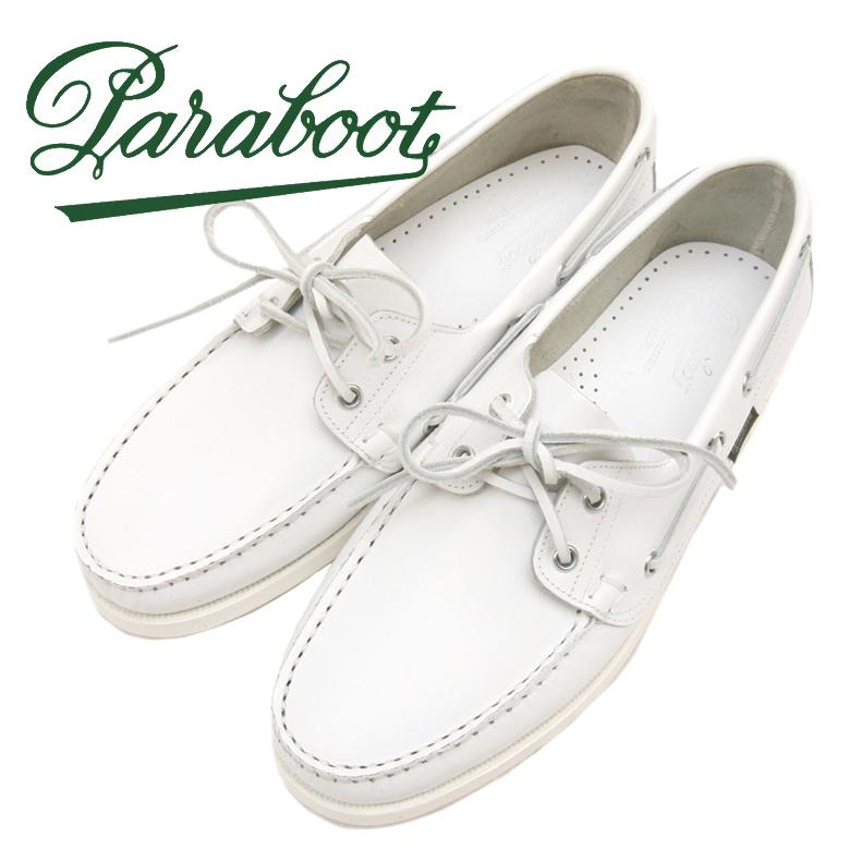 パラブーツ デッキシューズ バース 780384 ホワイト Paraboot BARTH