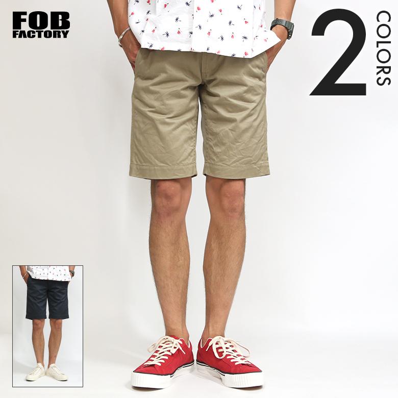 送料無料 FOB FACTORY(FOBファクトリー) フュージョン ショーツ F4160