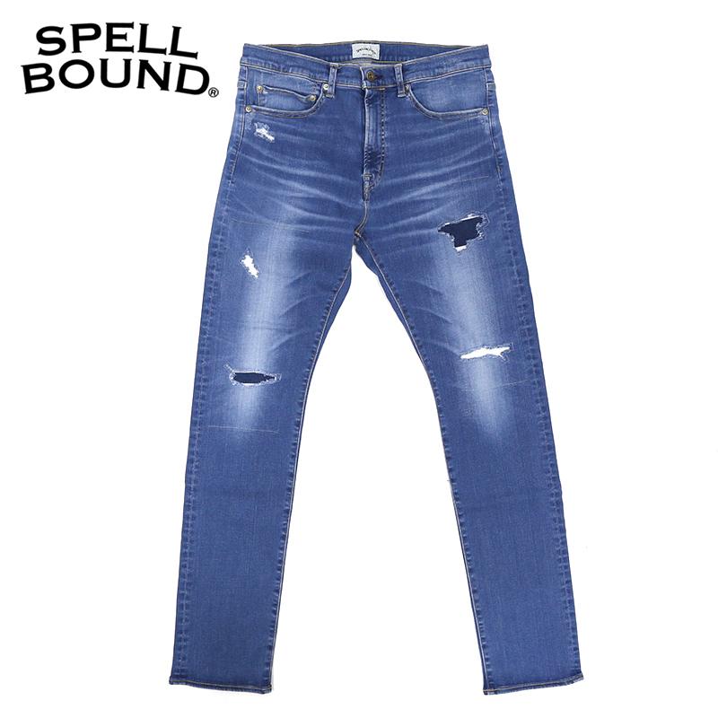 SPELLBOUND/スペルバウンド 5Pスキニーフィットジーンズ 43-655D(リメイク加工)