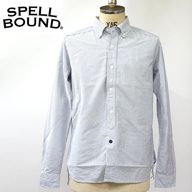 SpellBound スペルバウンド ストライプ ボタンダウンシャツ 46-174X