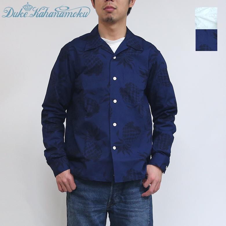 送料無料 デューク・カハナモク コットン オープンシャツ DK27806 Duke Kahanamoku