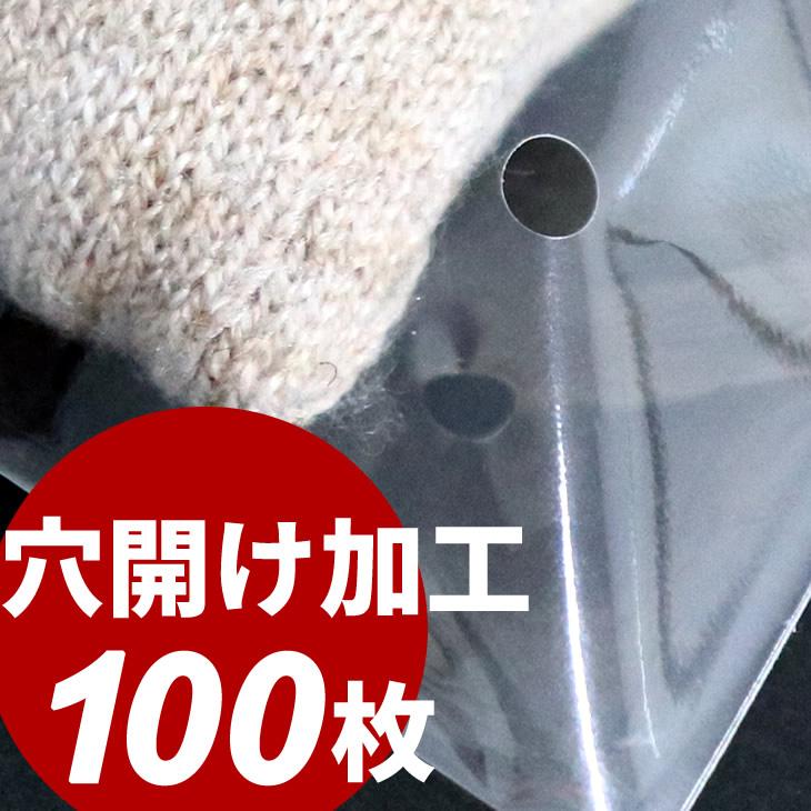 空気穴開け済でお届け 衣類等の陳列 包装 保管に 100枚 空気穴 買取 OPP袋 返品送料無料 穴開け加工