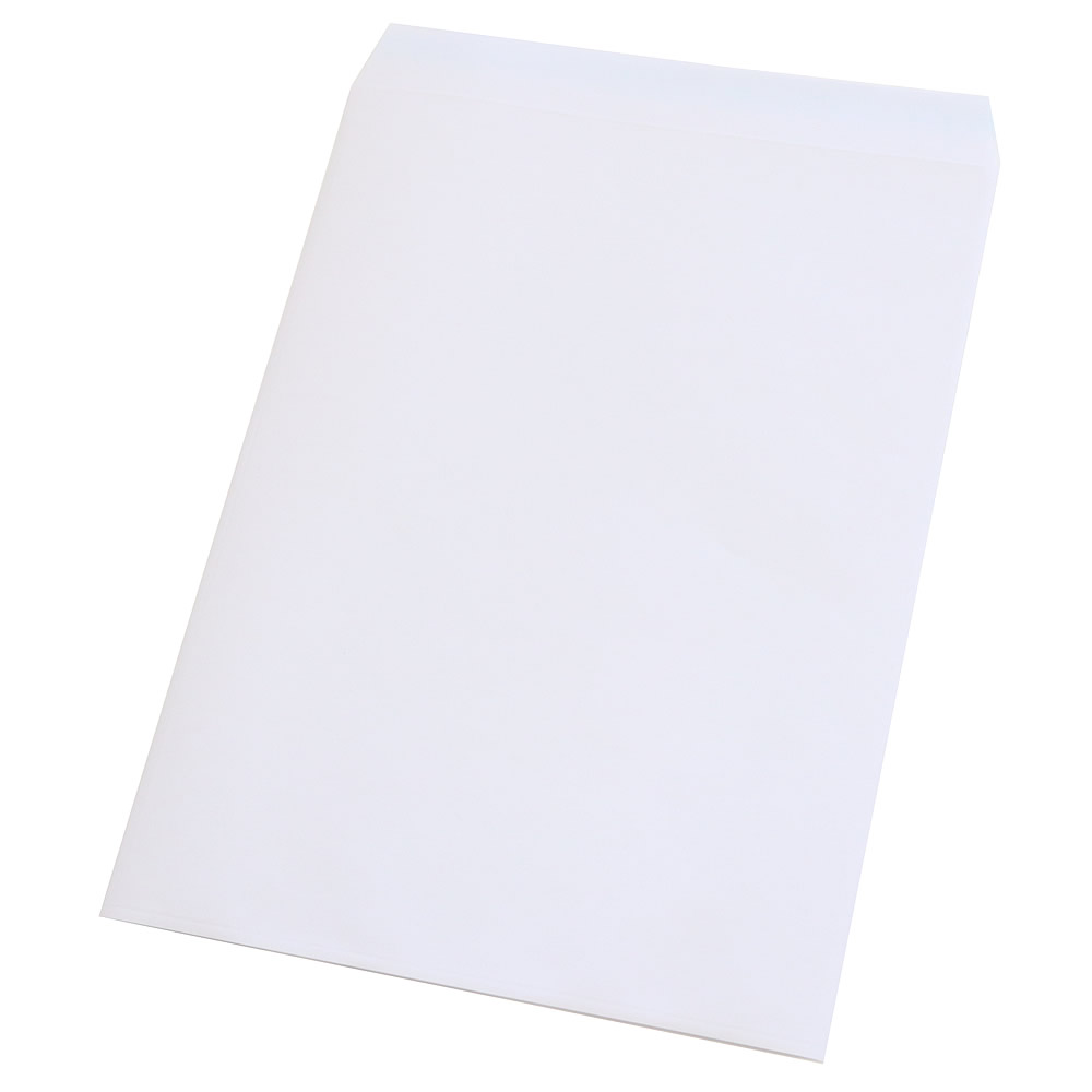 DM用 封筒 定形外 角形2号 表:白紙・裏:透明 テープ付・折線付 OPP0.05mm/紙80gx250x335+30mm1000枚入 K2-PFEC501T(PF-角2)