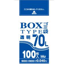ポリ袋 70L BOXタイプ 透明800x900mm 400枚入 BL73
