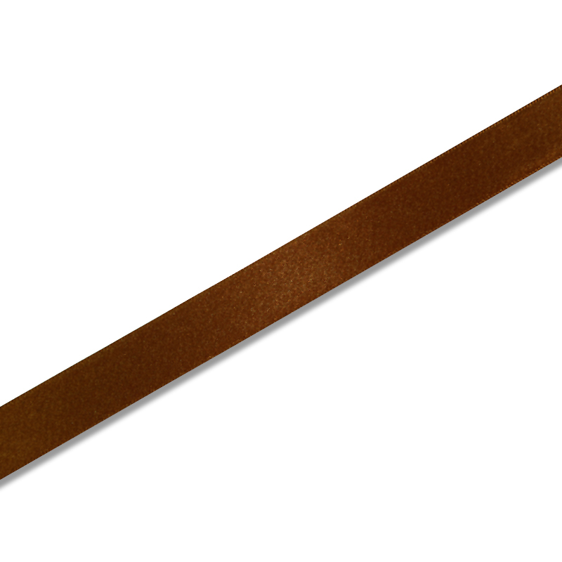 プレゼント包装 ハンドメイドに ギフトラッピング用 シングルサテン お得セット リボン ココア 18mm 1巻入 x20m巻 新色