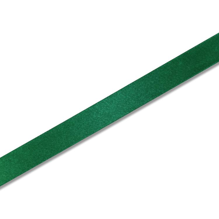 高い素材 プレゼント包装 ハンドメイドに ギフトラッピング用 シングルサテン リボン Xグリーン 18mm x20m巻 引出物 1巻入