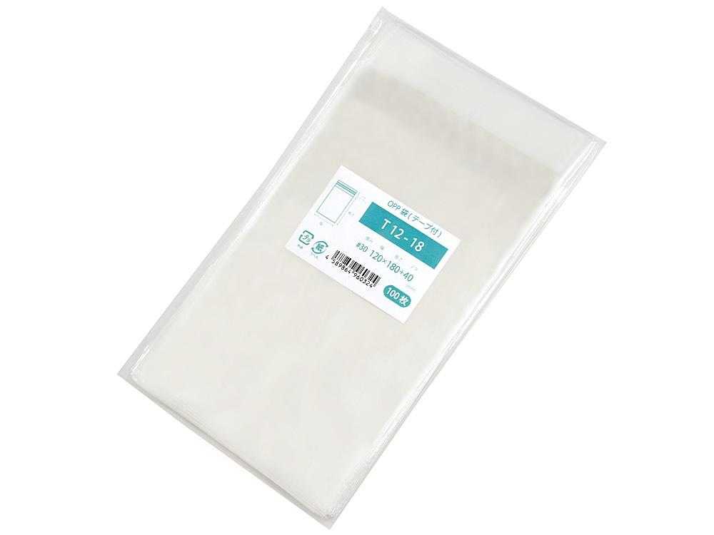 日本製 高い透明性 帯電防止加工でテープが手にくっつかない OPP袋 マスク用 低価格化 テープ付 120x180mm T12-18 お気に入り 5 M便 1 100枚
