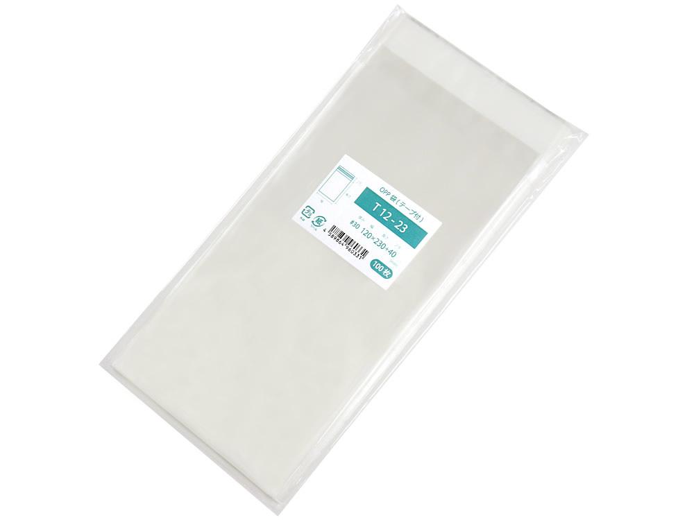 日本製 高い透明性 帯電防止加工でテープが手にくっつかない 激安超特価 OPP袋 テープ付 100枚 1 春の新作続々 T12-23 M便 5 120x230mm