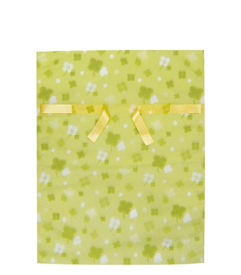 (お徳用)不織布リボン付巾着袋クローバーLL450幅×600高(420)【送料込み】