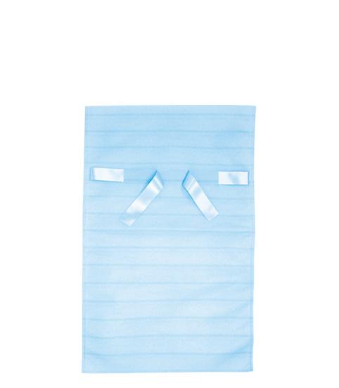 (お徳用)不織布リボン付巾着袋ボーダーLブルー310幅×500高(350)