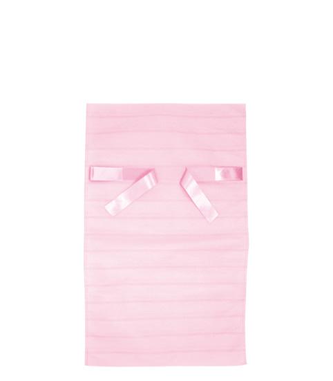 リボンの両端を引っ張るだけの簡単ラッピング 格安店 返品送料無料 リボンの表裏が無い為 だれが結んでもきれいに仕上がります 不織布リボン付巾着袋ボーダーLピンク310幅×500高 350