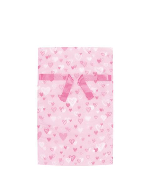 (お徳用)不織布リボン付巾着袋ハートL310幅×500高(350)