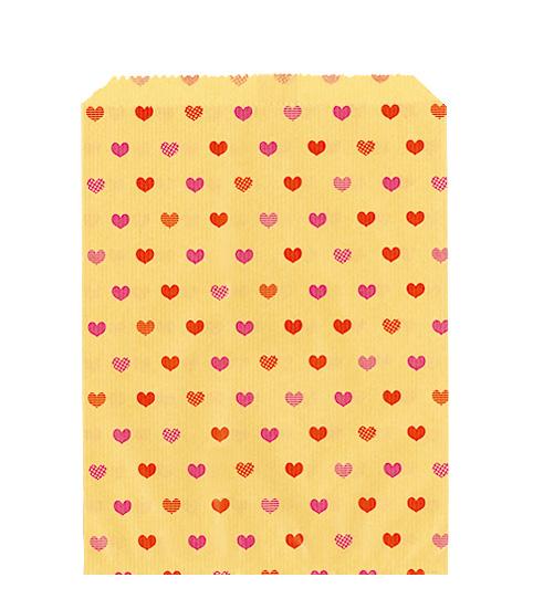 平袋用途に合わせて 色柄 サイズがいろいろ選べます オンラインショッピング 平袋茶Kハート2号180幅×235高 100枚 卸売り
