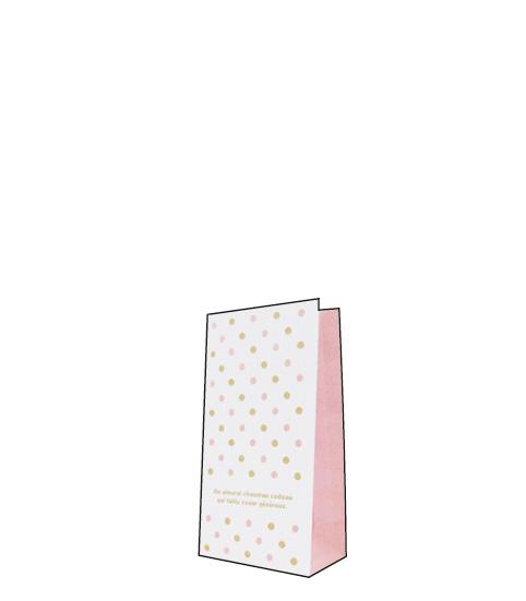 角底袋底マチ付きで使いやすく いろいろな包み方を楽しむことができる人気の定番アイテムですプレゼントなどを入れてかわいくラッピング 出群 ピンク90幅×55マチ×170高 角底袋ドットS 最安値