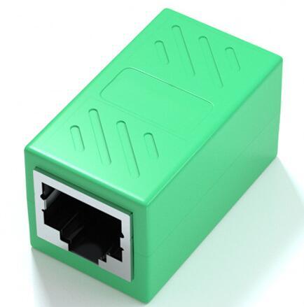 RJ45 LANケーブル用中継コネクタ 延長 メス-メス LANケーブル おトク 延長コネクタ ギガビット コネクタ アダプタ 8P8C 対応 捧呈 2個セット コンパクト LY-19A01