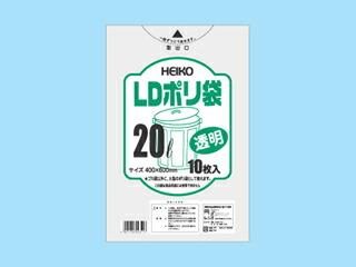 LDポリ袋(025)20L【0.025×400×600mm】【1000枚入】【シモジマ】(領収書対応可能) 透明 ポリ 袋 ごみ袋