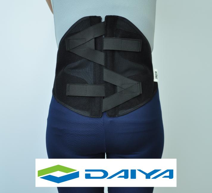 腰 コルセット サポーター 腰用 圧迫 テーピング バックインパクトαブラック ダイヤ工業