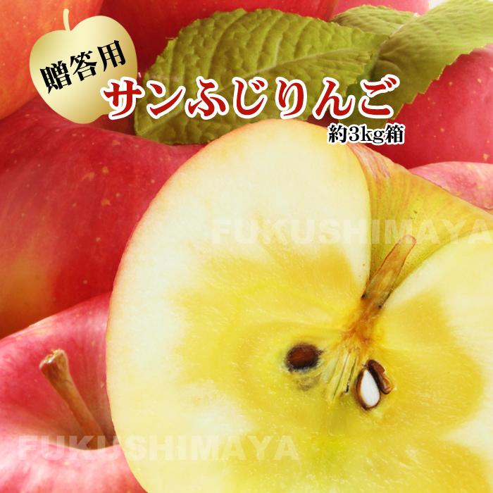 新色 シャリシャリ+りんごの甘味 葉とらずりんごじゃないのには甘いりんごに育つ訳がある お歳暮にも大人気の品種 サンふじ 福島県産 約3kg箱 発送時期:12月上旬頃~1月中旬頃まで予定 『1年保証』 6~11玉入 3~4人向けの贈答向けサイズ リンゴ りんご