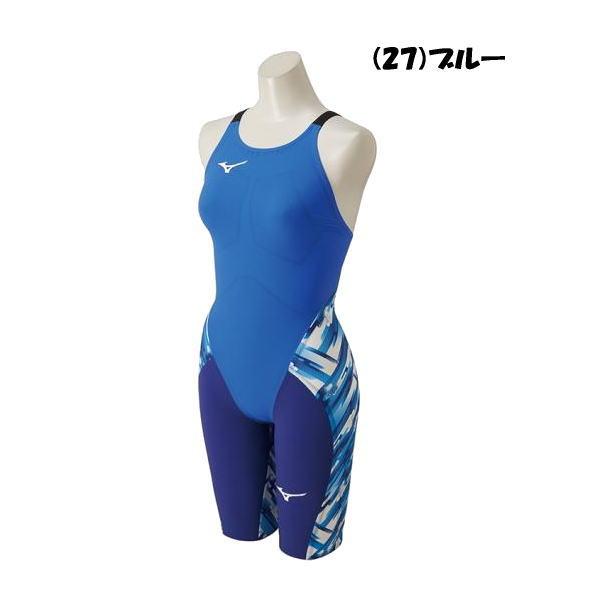 ミズノ(Mizuno) GX・SONIC III (MR) ハーフスーツ N2MG6202 27 ブルー レディス競泳水着