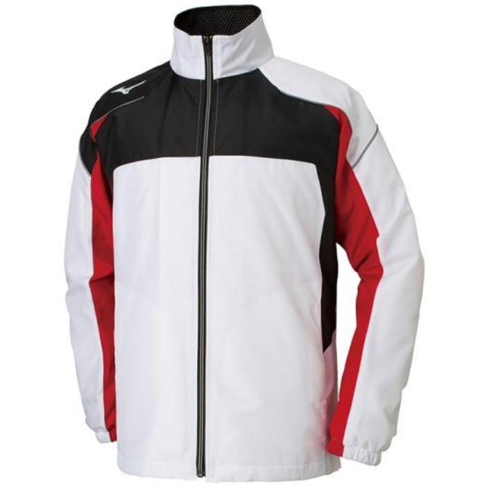 ミズノ(Mizuno) マルチウォーマーシャツ ユニセックス 32JE8590 01 ホワイト×ブラック×C.レッド(32je859001)