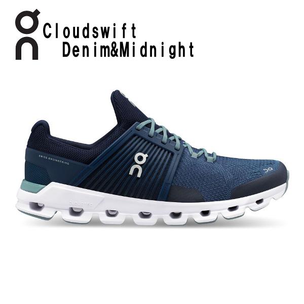 オン(On) Cloud swift Denim & Midnight 3199943M メンズ クラウド スウィフト ランニングシューズ スイフト(3199943m)
