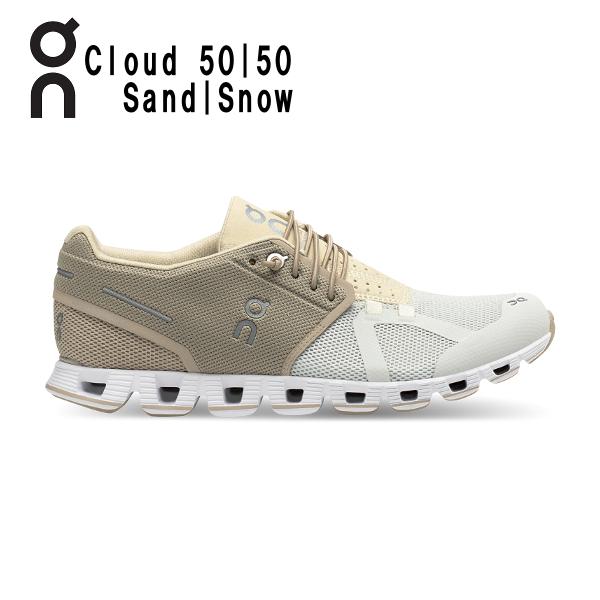 オン(On) Cloud 50 | 50 Sand | Snow 1999895W ウィメンズ クラウド ランニングシューズ 春夏 限定 カラー(1999895w)
