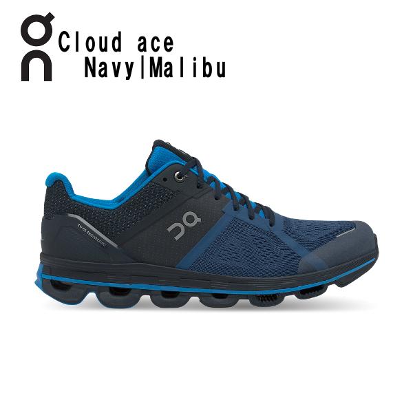 オン(On) Cloud ace Navy & Malibu 30998637M メンズ クラウド エース ランニングシューズ(3099863m)
