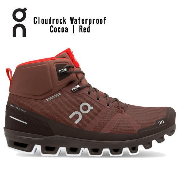 オン(On) Cloud rock Waterproof CocoaRed 2399855M メンズ クラウドロック ウォータープルーフ ハイキングブーツ(2399855m)