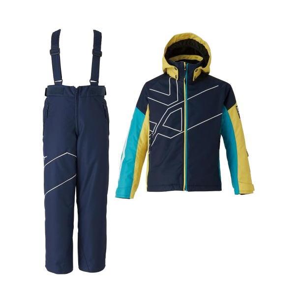 ミズノ(Mizuno) N-XT スキースーツ 上下セット ジュニア キッズ Z2JG995514 スキーウェア 耐水圧10000mm ブレスサーモ(z2jg9955-14)