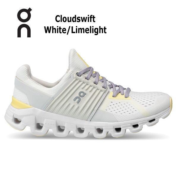 オン(On) Cloud swift White Limelight 4199577W レディース クラウド スウィフト ランニングシューズ ウィメンズ(4199577w)