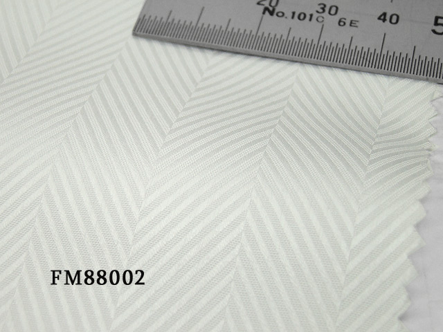 オリジナルオーダーシャツ●FM88002 THOMAS MASON社製 Italy Fabrics白ヘリンボーンドビー地 100番手双糸 100%cotton