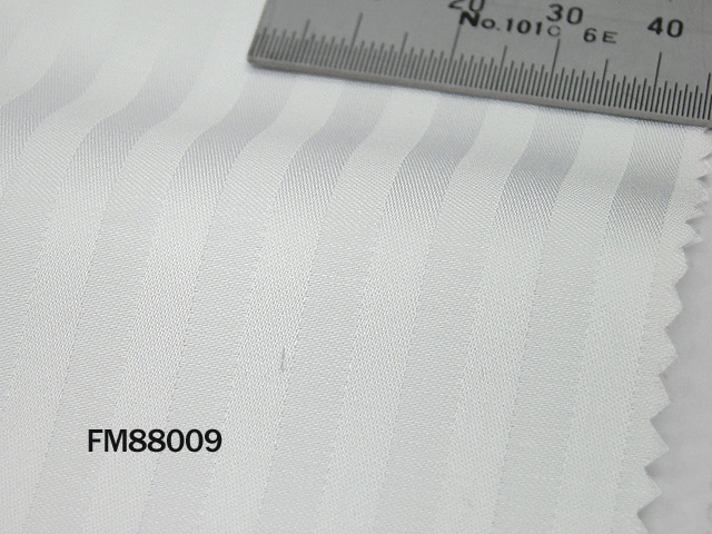 オリジナルオーダーシャツ●FM88009THOMAS MASON社製 Italy Fabrics白ドビーストライプ地 120番手双糸 100%cotton