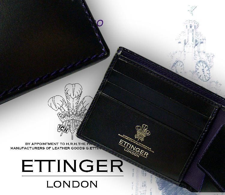 ♦ BLACK-PURPLE EURO (3 C / cards & mens billfold) 141 JR black - purple euro (men's / note / leather / two-fold purse / wallet / wallet)