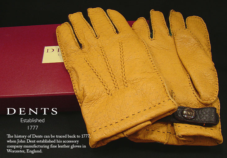 DENTS手袋 / デンツ手袋 PECCARY / ペッカリー ( 猪豚革 ) 3カラーコンビネーション [ CORK / コルク / コーク ] 15-1614