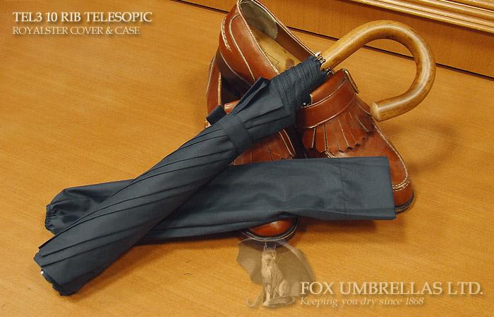 【 FOX UMBRELLAS / フォックス・アンブレラズ 】折りたたみ傘 ( マラッカ / ネイビー )FX-TL3-MA-0004