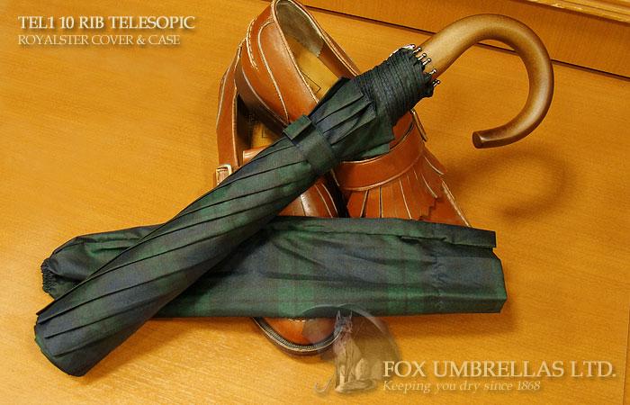 【 FOX UMBRELLAS / フォックス・アンブレラズ 】折りたたみ傘 ( メイプル / ブラックウォッチ )FX-TL1-MC-0005