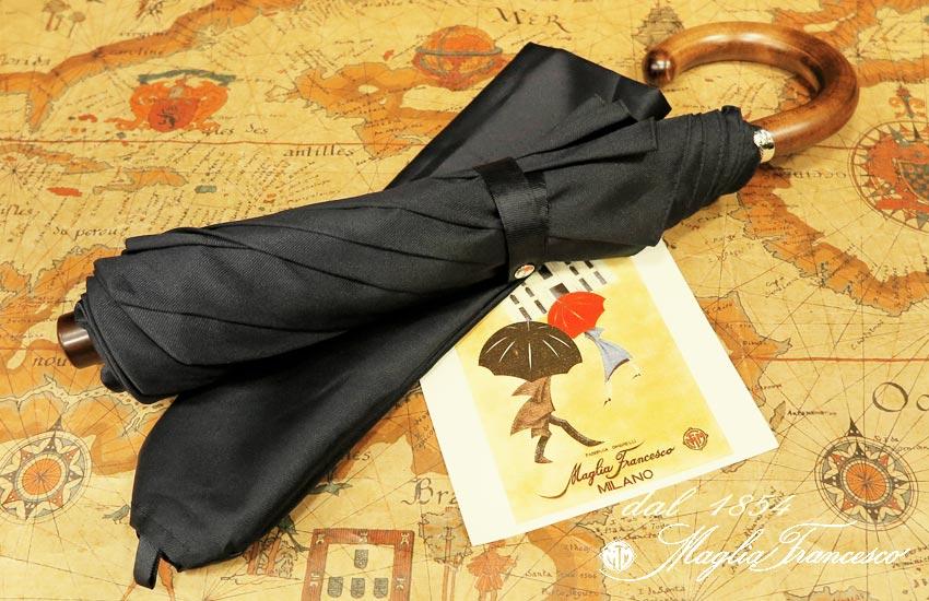 【 Maglia Francesco / マリアフランチェスコ 】 ( 折りたたみ傘 ) ( 濃紺無地 ) maglia-058