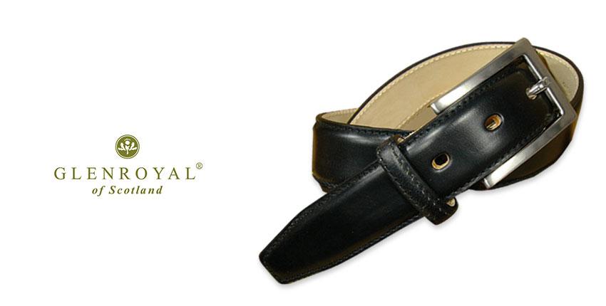 GLENROYAL / グレンロイヤル ●BRIDLE LEATHER DRESS BELT BLACK 06-5480-NEWBLACK/BLACK/黒 ブライドルレザー/ドレス/ベルト/メンズ/革製 【あす楽対応】