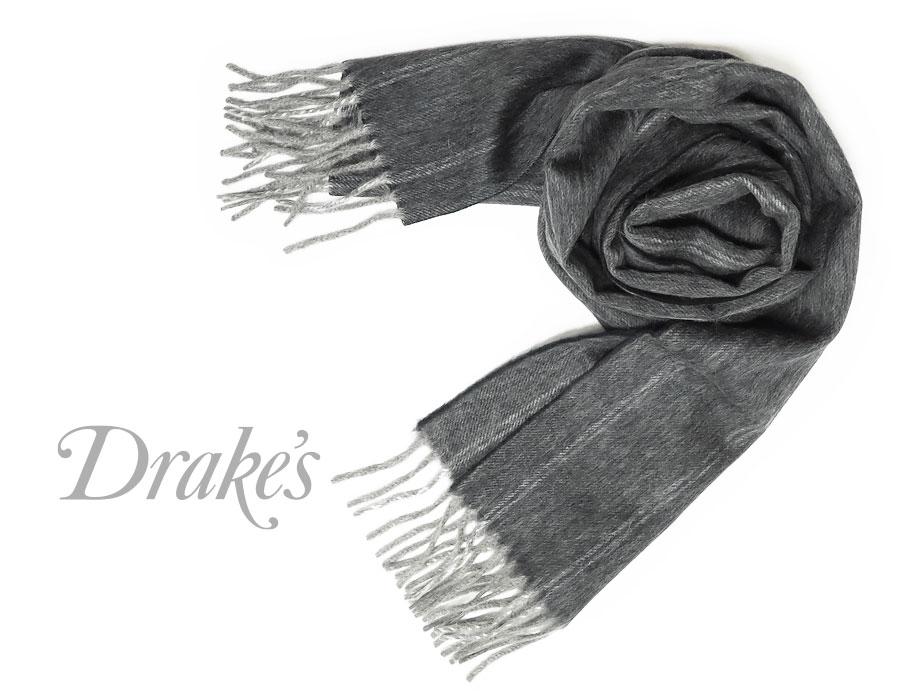 DRAKE'S/ ドレイクス マフラー ( ( ドレイクス/ ネイビー×オフホワイトストライプ ) 18753-001, ベビーキッズ雑貨 ミルティ:a8ede771 --- sunward.msk.ru