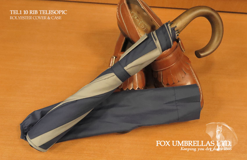 【 FOX UMBRELLAS / フォックス・アンブレラズ 】折りたたみ傘 ( メイプル / グレー×ブルー系切り替え ) FX-TL1-MC-0912