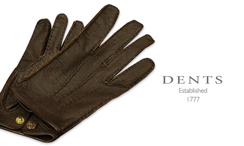 [デンツ社公認販売店]DENTS 手袋 / デンツ手袋 PECCARY / ペッカリー ( 猪豚革 ) [ BARK / バーク ] 15-1043 BARK