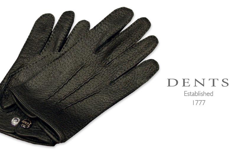 [デンツ社公認販売店]DENTS 手袋 / デンツ手袋 PECCARY / ペッカリー ( 猪豚革 ) [ BLACK / ブラック ] 15-1043 BLACK