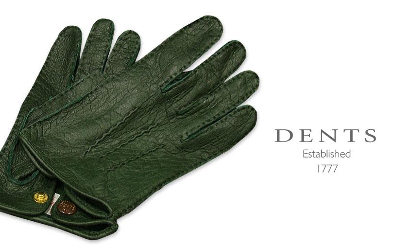 [デンツ社公認販売店]DENTS 手袋 / デンツ手袋 PECCARY / ペッカリー ( 猪豚革 ) [ HUNTER / グリーン ] 15-1043 HUNTER